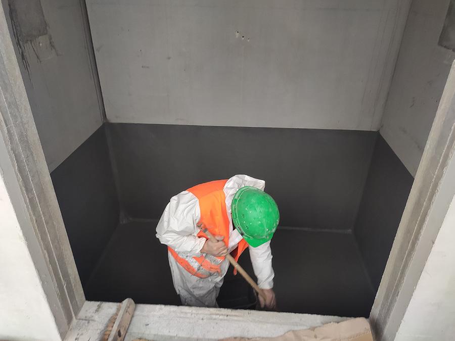 Cuvelage fosse d'ascenseur