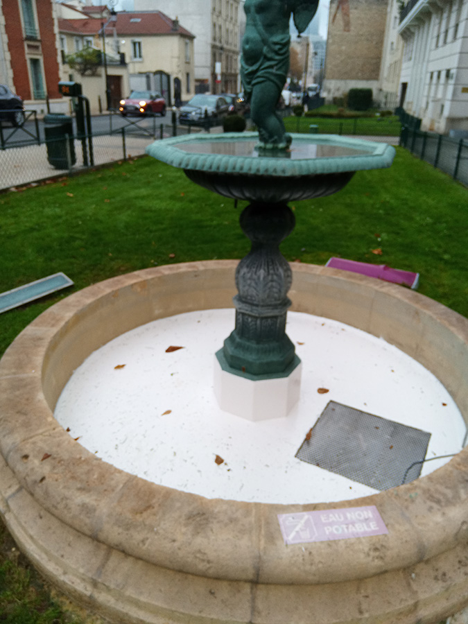 Rénovation des finitions de la fontaine République