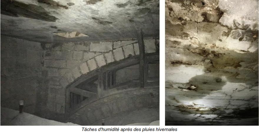 infiltrations sous face cathédrale de Reims